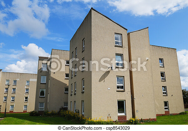 Council House Flats in the UK - csp8543029