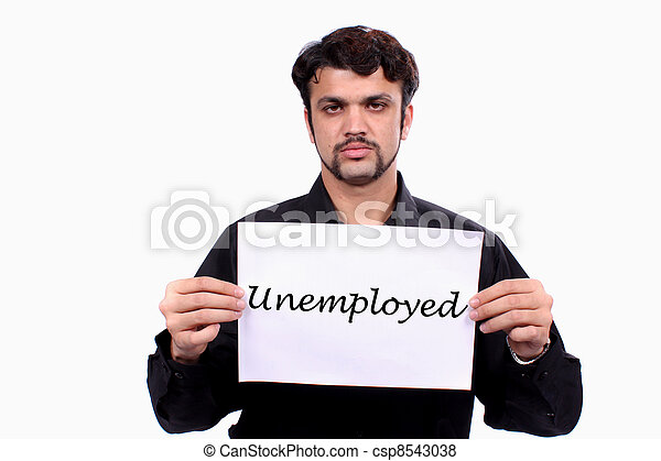 Unemployed Indian Man - csp8543038