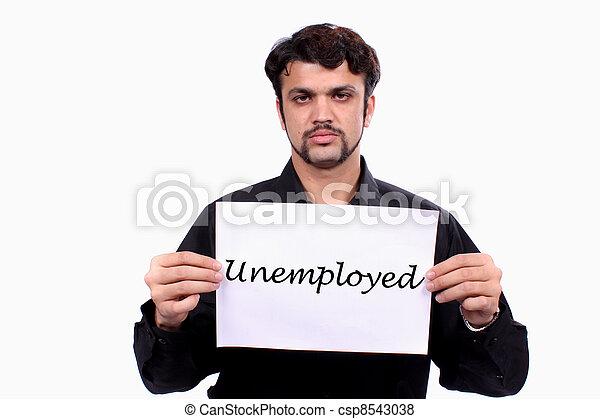 Unemployed Indian Man - csp8543038