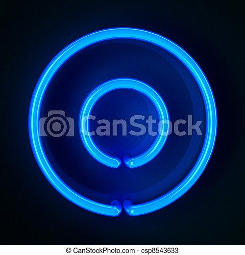 Neon Sign Zero - csp8543633