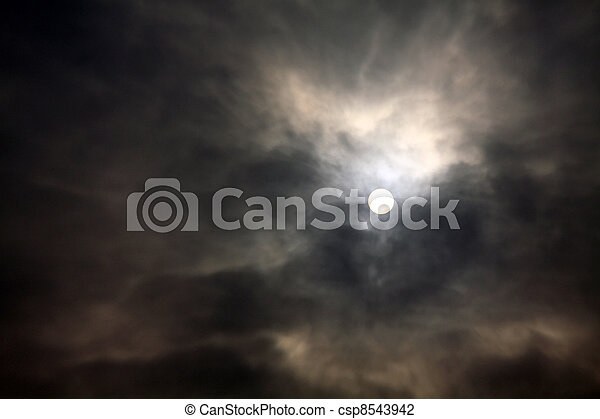 Sun in the cloud before thunderstorm - csp8543942