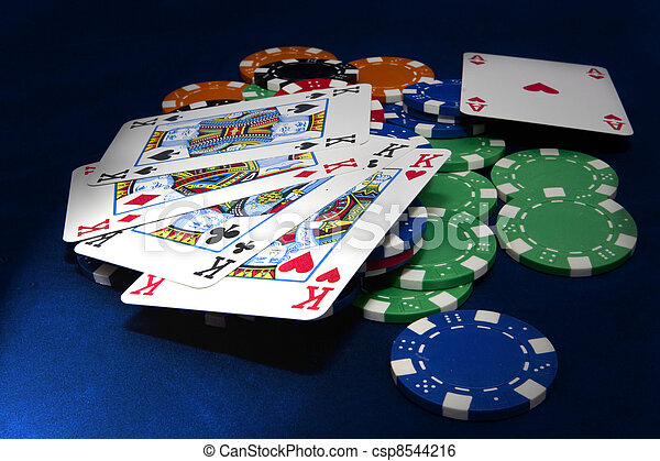Texas hold-em 4 kings hand - csp8544216