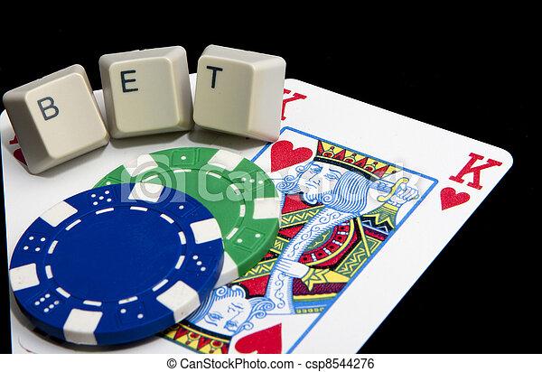 Online gambling, Texas hold-em  - csp8544276