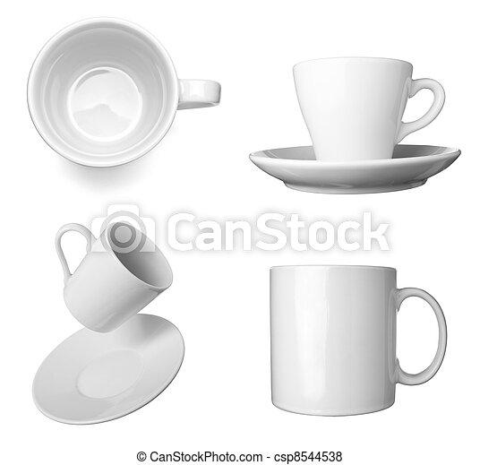 white coffee cup beverage drink food - csp8544538