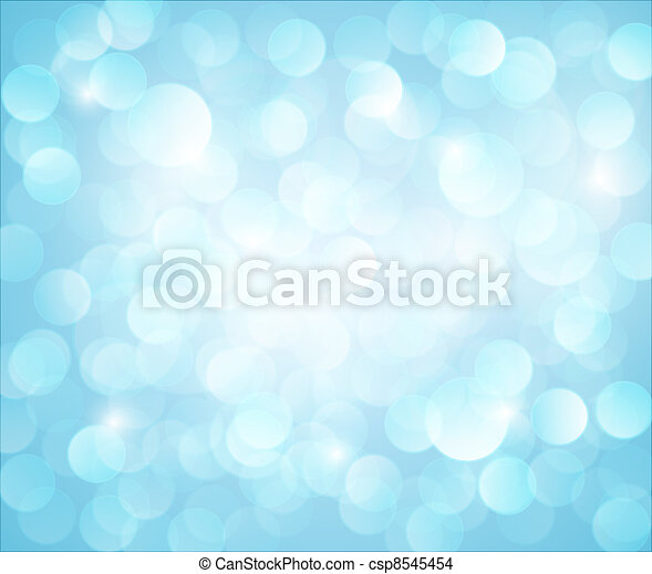 Light blue Vector bokeh background - csp8545454