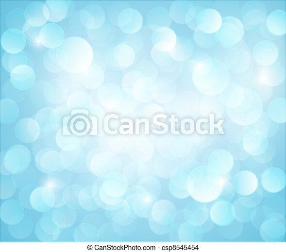 Light blue Vector bokeh background - csp8545454