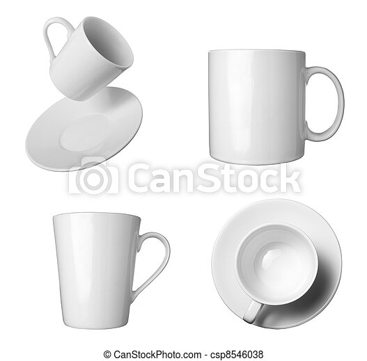 white coffee cup beverage drink food - csp8546038