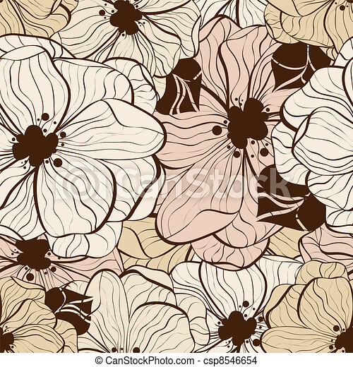 Flower seamless pattern - csp8546654
