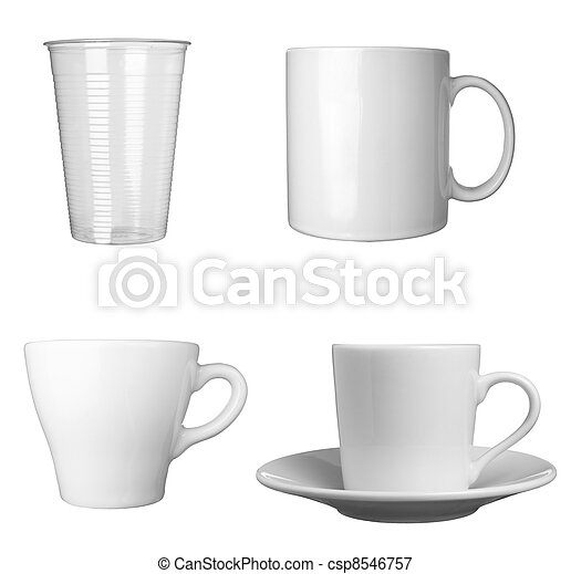 white coffee cup beverage drink food - csp8546757