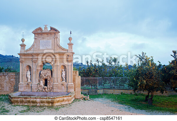 Nymphs  fountain, Leonforte - Sicily - csp8547161