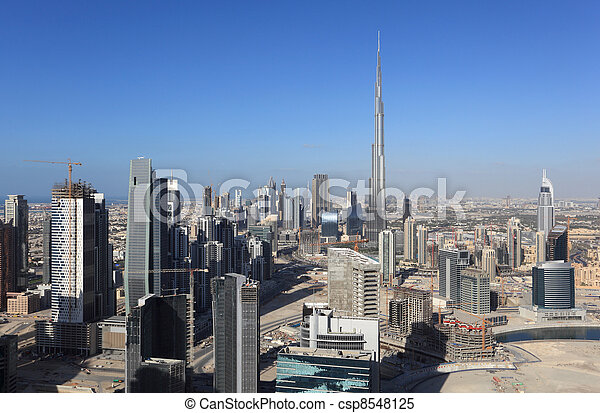 Dubai Downtown view, United Arab Emirates - csp8548125