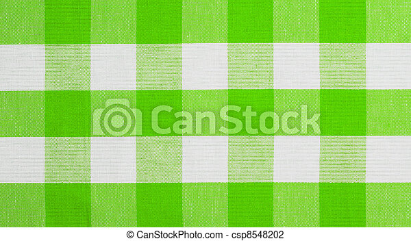 green checked fabric tablecloth - csp8548202