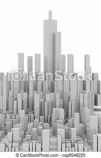 White Skyscrapers panorama - csp8548225