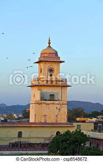 famous clocktower in Jaipur in sunset - csp8548672