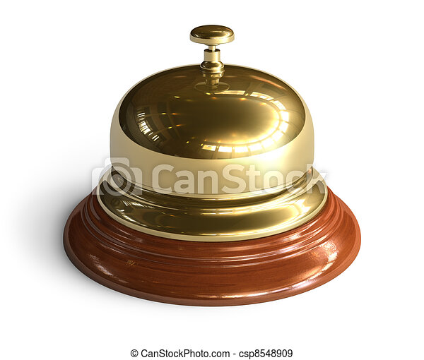 Golden reception bell - csp8548909