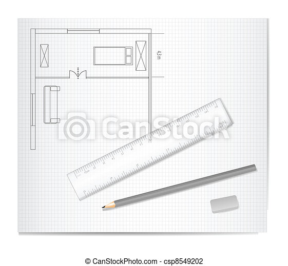 Drawing Architecture Sketch  - csp8549202