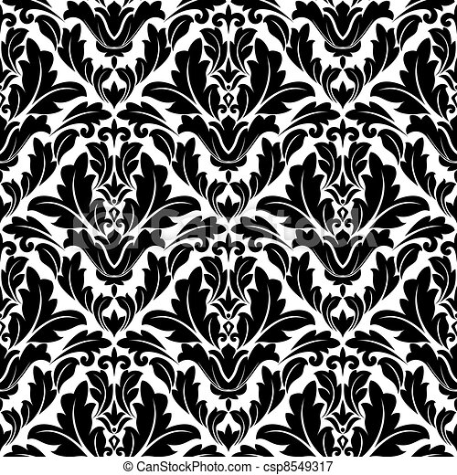 Retro flourish seamless pattern - csp8549317