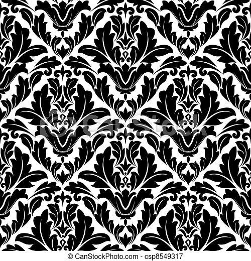 Retro flourish seamless pattern - csp8549317