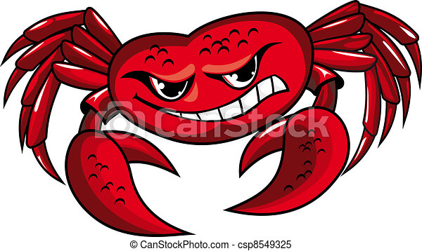 Danger crab with claws - csp8549325