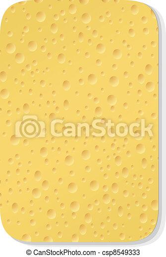 Yellow washing sponge - csp8549333