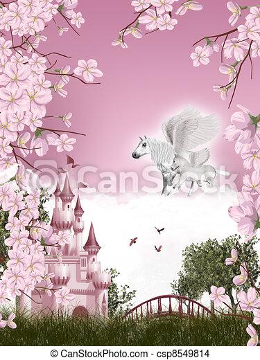 Pegasus fairy tale - csp8549814