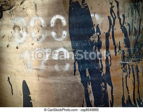 spray paint on the steel fuel tank - csp8549885