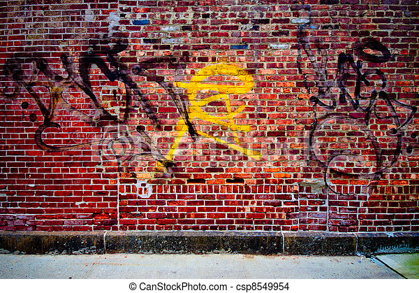 Graffiti Wall - csp8549954