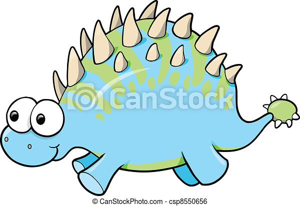 Funny Goofy Dinosaur Animal Vector - csp8550656
