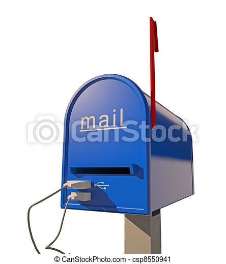 mailbox with USB port - csp8550941