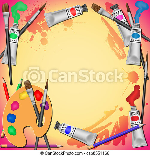 Art Equipment Background - csp8551166