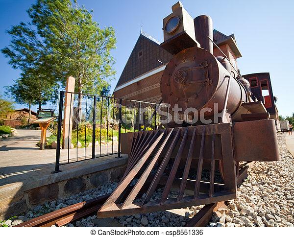Old steam locomotive  - csp8551336