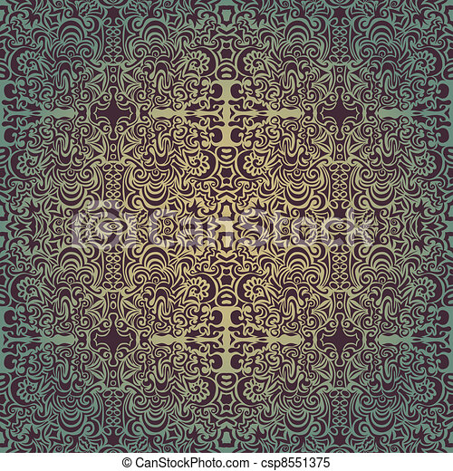 Green luxury seamless pattern  - csp8551375