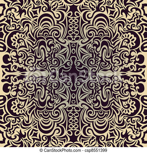 Soft green seamless pattern - csp8551399