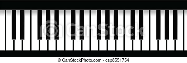 Piano Keys - csp8551754