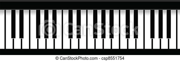 Piano Keys - csp8551754