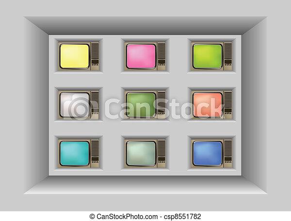 Retro Televisions - csp8551782
