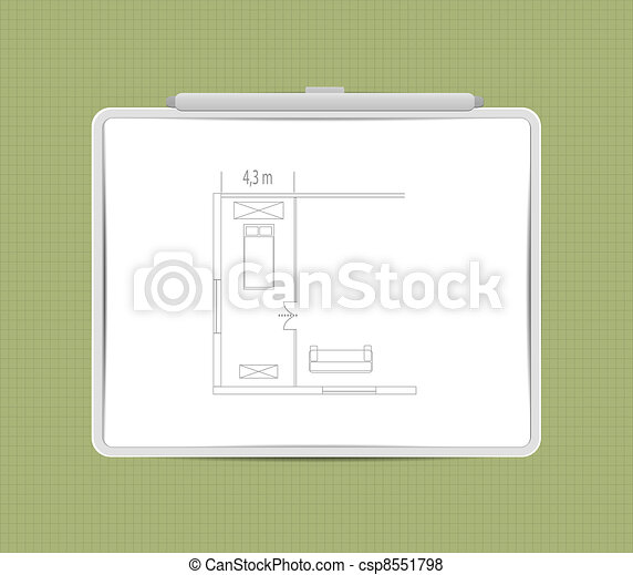 Architecture Sketch on whiteboard - csp8551798