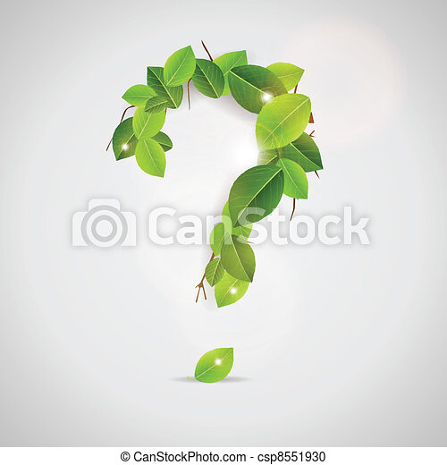 Question Sign made out of leaves - csp8551930