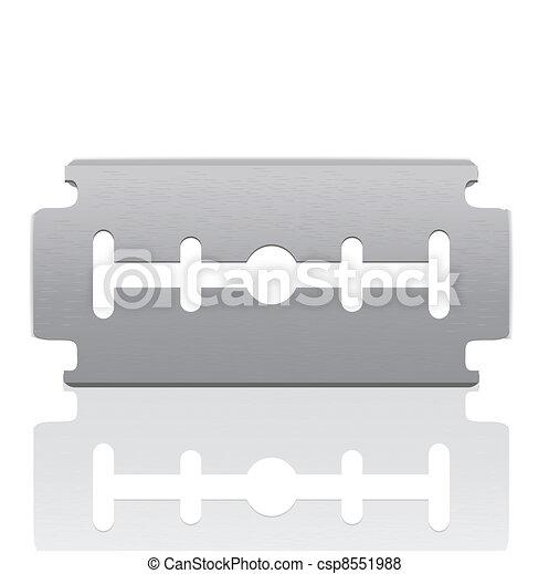 Razor Blade isolated on white - csp8551988