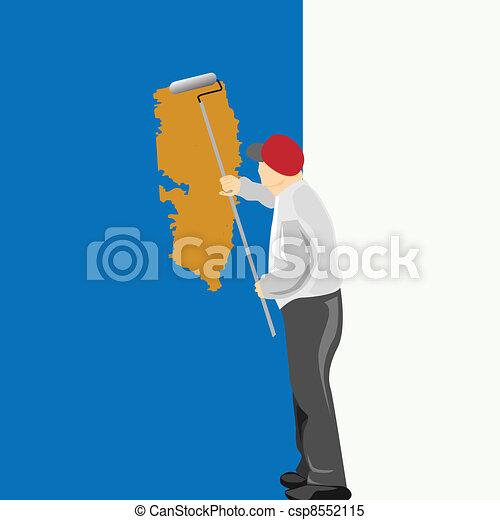 Man Painting Logo Man Painting Logo Man Painting