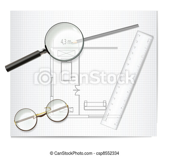 Drawing Architecture Sketch - csp8552334