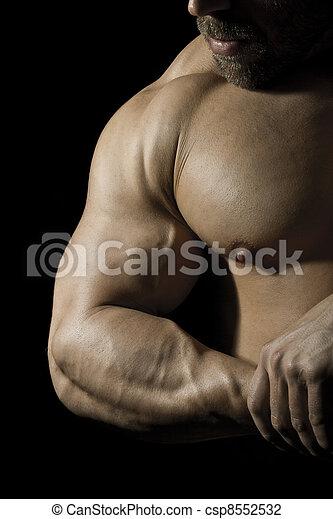 bodybuilding man - csp8552532