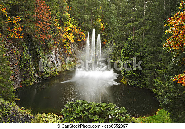 Magnificent dance fountain on island Vancouver - csp8552897