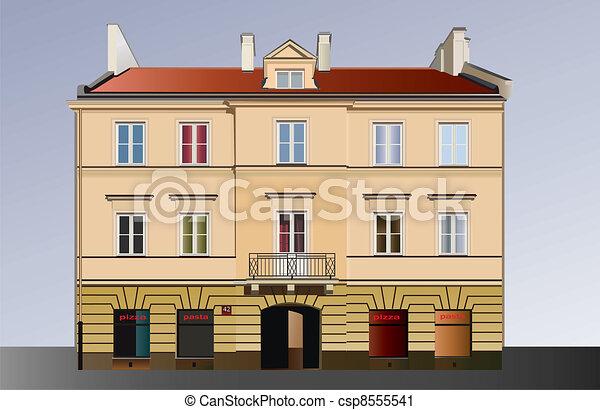 Classical facade - csp8555541