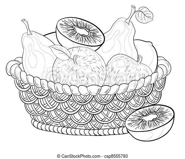 Kleurplaten Fruitmand.Kleurplaat Van Een Fruitschaal Knutseltips De Avonturen Van Koosje
