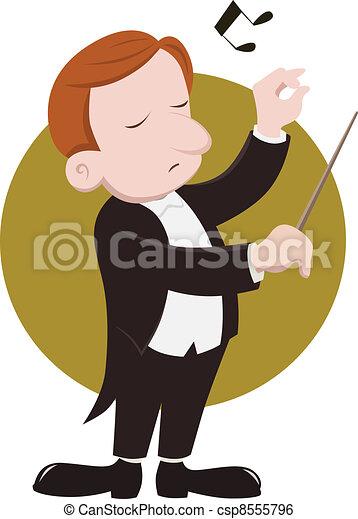 指揮者 - csp8555796 指揮者 - a, 指揮者, 指揮する, 音楽家 csp8555