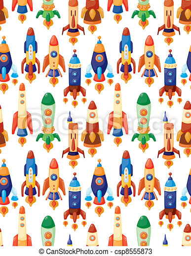 seamless spaceship pattern - csp8555873