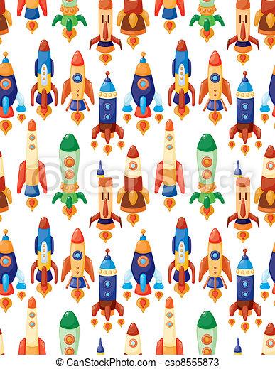 seamless spaceship pattern - csp8555873