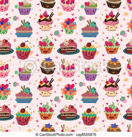 seamless cake pattern - csp8555876