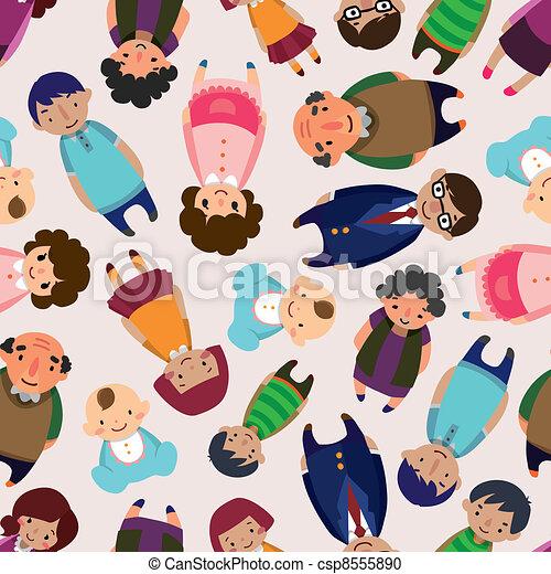 seamless family pattern - csp8555890